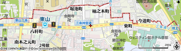 京都府京都市東山区夷町周辺の地図
