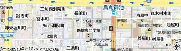 京都府京都市中京区役行者町周辺の地図