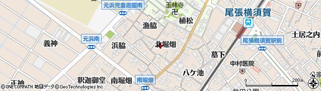 愛知県東海市養父町(北堀畑)周辺の地図