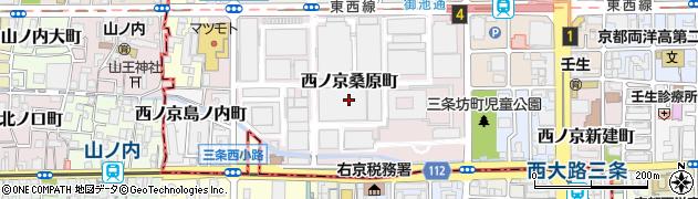 京都府京都市中京区西ノ京日扇町周辺の地図