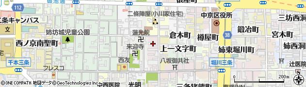 京都府京都市中京区姉大宮町西側周辺の地図