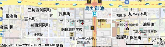 京都府京都市中京区柿本町周辺の地図