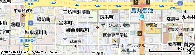 京都府京都市中京区町頭町周辺の地図