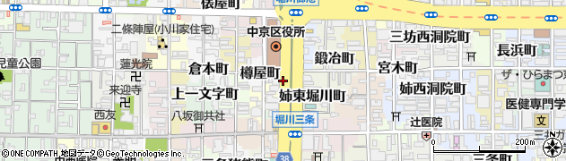 京都府京都市中京区姉西堀川町周辺の地図