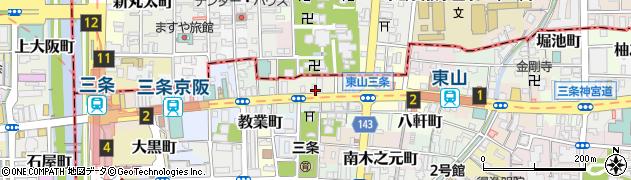 京都府京都市東山区七軒町周辺の地図