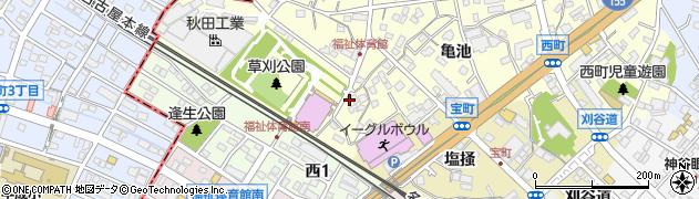 愛知県知立市西町(草刈)周辺の地図