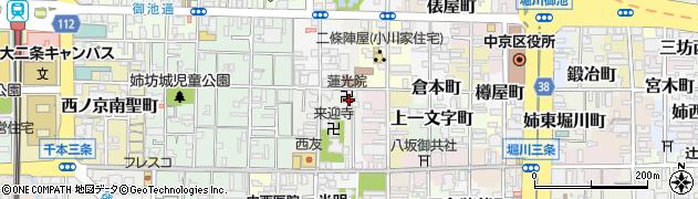 蓮光院周辺の地図