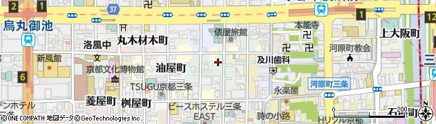 京都府京都市中京区下白山町周辺の地図