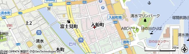静岡県静岡市清水区入船町周辺の地図