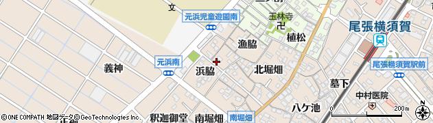 愛知県東海市養父町(浜脇)周辺の地図