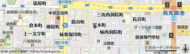 京都府京都市中京区宮木町周辺の地図