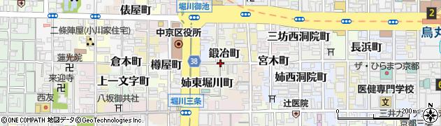 京都府京都市中京区鍛冶町周辺の地図