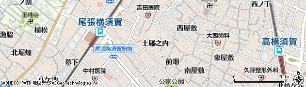 愛知県東海市高横須賀町(土居之内)周辺の地図