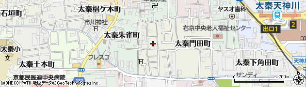 京都府京都市右京区太秦藤ケ森町周辺の地図