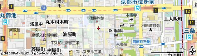 京都府京都市中京区姉大東町周辺の地図