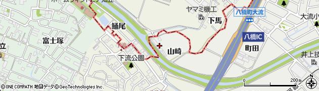 愛知県知立市八橋町(山崎)周辺の地図