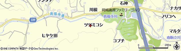 愛知県岡崎市駒立町(ツツミコシ)周辺の地図