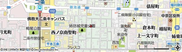 京都府京都市中京区西ノ京池ノ内町周辺の地図