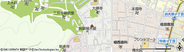 滋賀県大津市三井寺町周辺の地図
