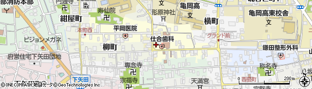 京都府亀岡市新町周辺の地図