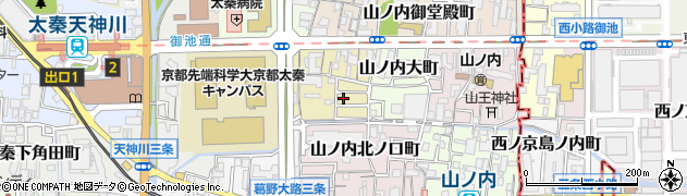 京都府京都市右京区山ノ内五反田町周辺の地図