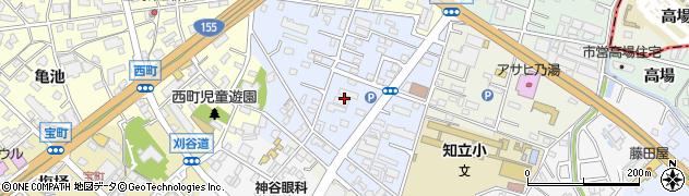 愛知県知立市桜木町周辺の地図