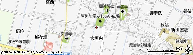 愛知県豊田市畝部西町(大垣内)周辺の地図