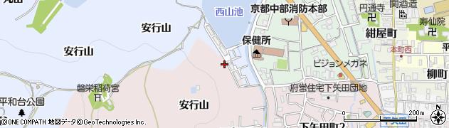 京都府亀岡市下矢田町(安行山)周辺の地図