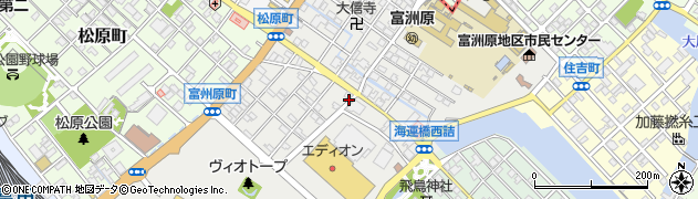 三重県四日市市富州原町周辺の地図