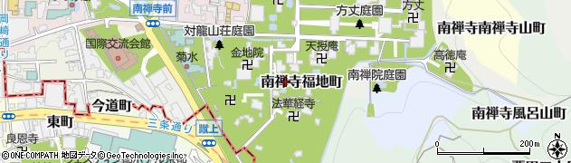 京都府京都市左京区南禅寺福地町周辺の地図