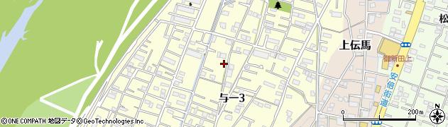 静岡県静岡市葵区与一周辺の地図