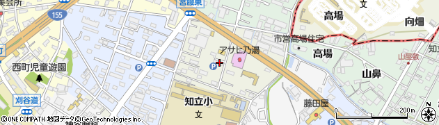 愛知県知立市中町(花山)周辺の地図
