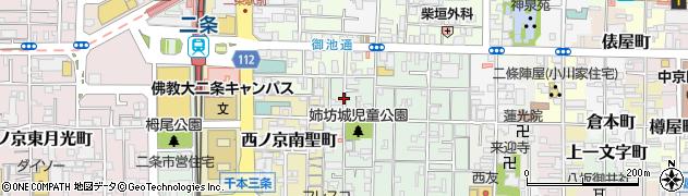 京都府京都市中京区西ノ京勧学院町周辺の地図