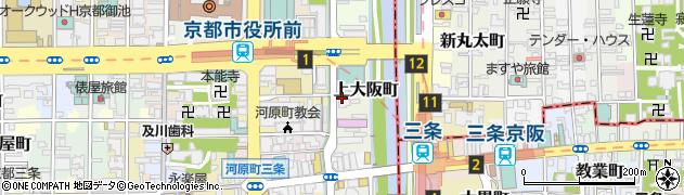 京都府京都市中京区上大阪町周辺の地図