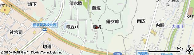 愛知県東海市大田町(膝折)周辺の地図