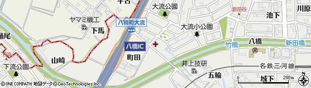 愛知県知立市八橋町(町田)周辺の地図