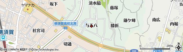 愛知県東海市大田町(与五八)周辺の地図