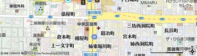 京都府京都市中京区三坊堀川町周辺の地図