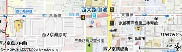 京都府京都市中京区西ノ京下合町周辺の地図