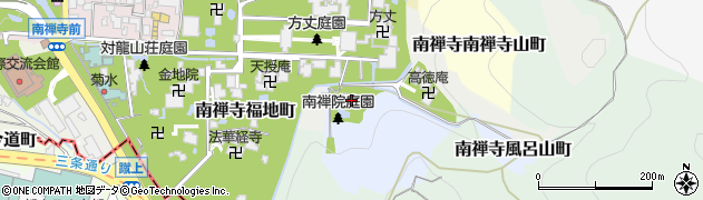 南禅院周辺の地図