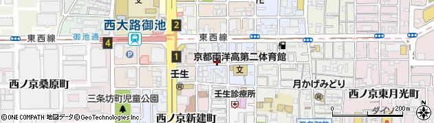 京都府京都市中京区西ノ京南原町周辺の地図