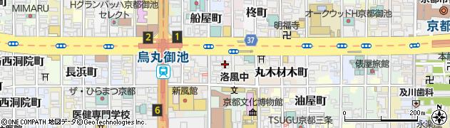 京都府京都市中京区綿屋町周辺の地図