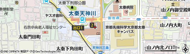 京都府京都市右京区周辺の地図