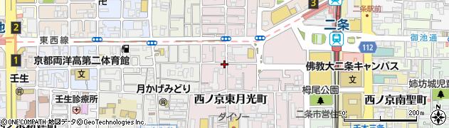 京都府京都市中京区西ノ京東月光町周辺の地図