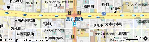 京都府京都市中京区周辺の地図