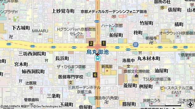 烏丸御池駅(京都府京都市中京区) 駅・路線図から地図を検索