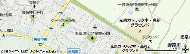 滋賀県草津市橋岡町周辺の地図
