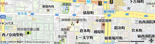 京都府京都市中京区三坊大宮町周辺の地図