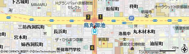 京都府京都市中京区虎屋町周辺の地図