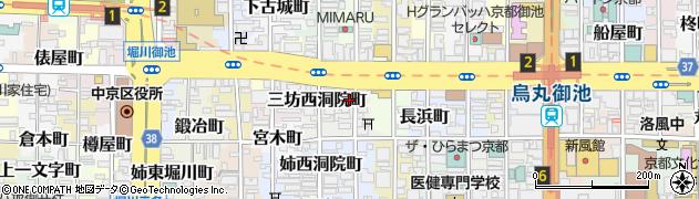 京都府京都市中京区津軽町周辺の地図